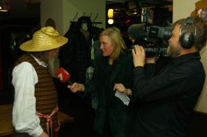 Snekucio  interviu Latvijos televizijai